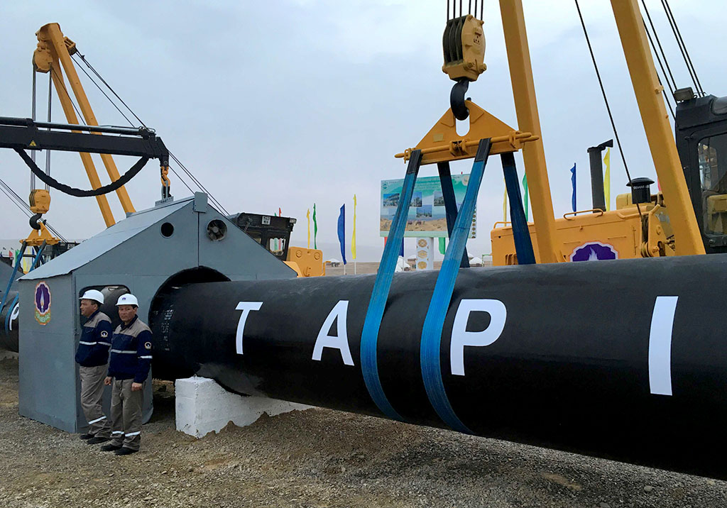 A document on security of the Afghan section of TAPI gas pipeline signed in Kabul