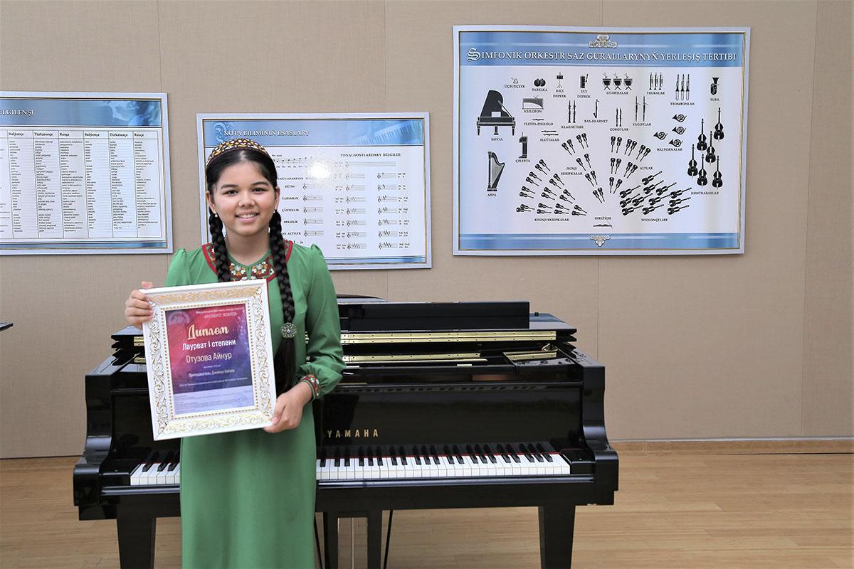 Юная пианистка из Туркменистана стала лауреатом I степени международного конкурса