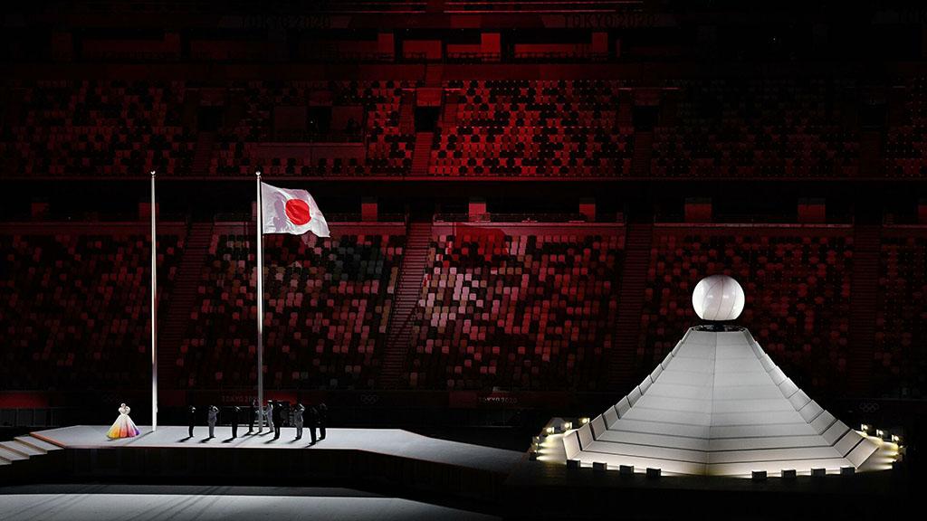 Сборная Туркменистана на церемонии открытия Олимпийских игр-2020 в Токио
